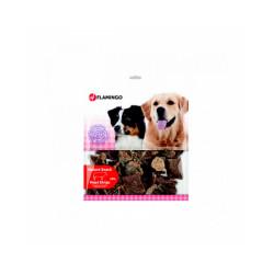 Friandises naturelles pour chien languettes de boeuf Flamingo Sachet de 200 g