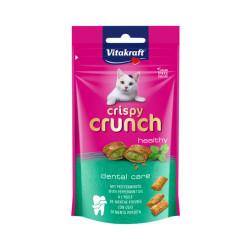 Friandises pour chat Crispy Crunch Dental menthe poivrée 60 g