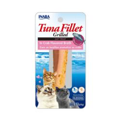 Friandise pour chat Inaba filet de thon et crabe - 15 g