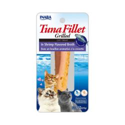 Friandise pour chat Inaba filet de thon et crevette - 15 g