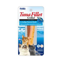 Friandise pour chat Inaba filet de thon et pétoncle - 15 g
