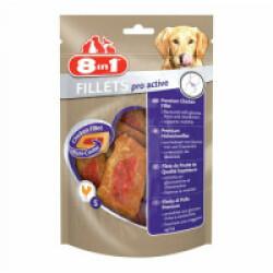 Friandises pour chien Pro Active saveur poulet 8 in 1 Fillets Sachet 80 g