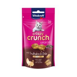 Friandises sans céréales pour chat Crispy Crunch Superfood Dinde et graines de Chia 60 g