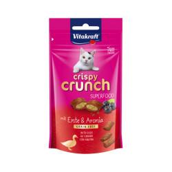 Friandises sans céréales pour chat Crispy Crunch Superfood Canard et baies d'Aronia 60 g