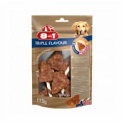Friandises Triple Flavour 8in1 ailes de poulet à mâcher pour chien - 6 pièces