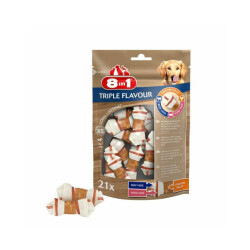 Friandises Triple Flavour 8in1 os à mâcher pour petit chien XS - 21 pièces