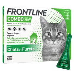 Frontline anti puce et tique Spot on Combo pour chat (pack 3 pipettes 0.5ml)