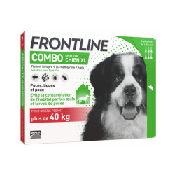 Frontline anti puce et tique Spot on pour chien 40 à 60 kg (6 pipettes 4.02 ml)