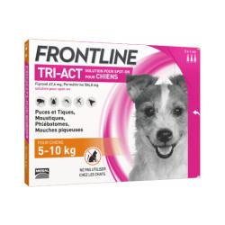 Frontline Tri-Act anti parasitaire Spot on pour chien 5 à 10 kg (3 pipettes 1ml)