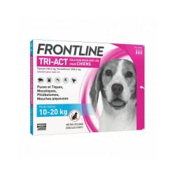 Frontline Tri-Act pipettes antiparasitaires pour chien 10 à 20 kg (3 pipettes 2ml)