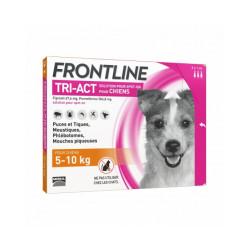 Frontline Tri-Act pipettes antiparasitaires pour chien 5 à 10 kg (3 pipettes 1ml)