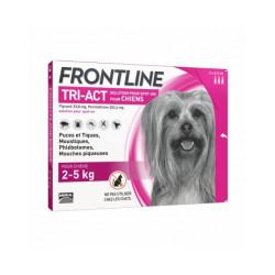 Frontline Tri-Act pipettes antiparasitaires pour chien 2 à 5 kg (3 pipettes 0.5ml)