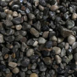 Galets 4-8 mm pour fond d'aquarium Coloris Foncé - Sac 2 kg
