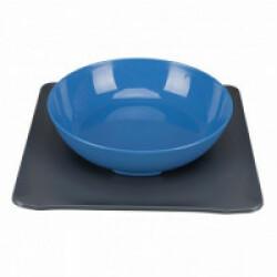 Gamelle 2 en 1 anti-dérapante Yummynator Trixie 850 ml 24 × 24 cm Bleu/gris