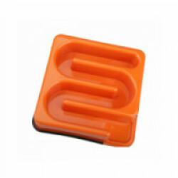 Gamelle anti glouton carrée labyrinthe M-Pets 1,2 litres Orange