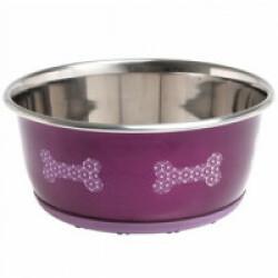Gamelle antidérapante pour chien et chat Selecta Rose 13 cm Contenance 300 ml