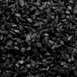 Gravier épais 6-9 mm noir pour fond d'aquarium - Sac 2 kg