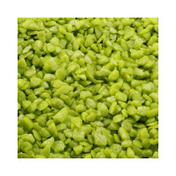 Gravier épais 6-9 mm vert bambou pour fond d'aquarium - Sac 2 kg