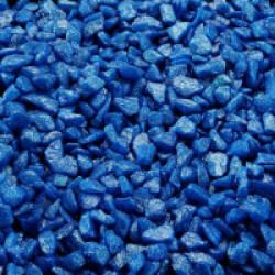 Gravier épais 6-9 mm bleu foncé pour fond d'aquarium - Sac 2 kg