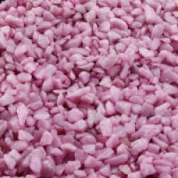 Gravier épais 6-9 mm rose pour fond d'aquarium - Sac 2 kg