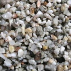 Gravier épais 3-6 mm naturel pour fond d'aquarium Coloris Clair - Sac 2 kg
