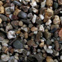 Gravier épais 3-6 mm naturel pour fond d'aquarium Coloris Foncé - Sac 2 kg