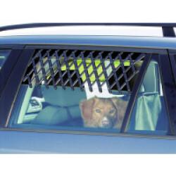 Grille maxi porte de voiture pour aération et sécurité du chien couleur noire