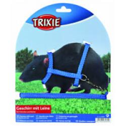 Harnais en nylon avec laisse pour rats et furets Trixie