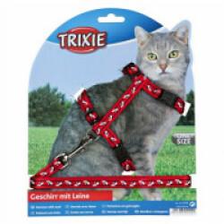 Harnais en nylon avec laisse Trixie pour chats Avec motifs