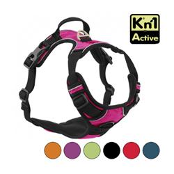 Harnais multifonction Kn'1 Active Drive pour chien T1 Rose