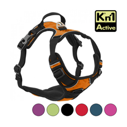 Harnais multifonction Kn'1 Active Drive pour chien T1 Orange