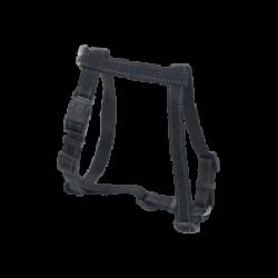Harnais noir réglable sangle renforcée en nylon avec coutures réfléchissantes Chapuis Sellerie