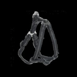 Harnais pour chien réglable sangle tubulaire matelassée Chapuis Sellerie noir Largeur 25 mm Longueur 70-80 cm