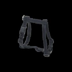 Harnais réglable pour chien sangle renforcée et coutures réfléchissantes Chapuis Sellerie noir Largeur 20 mm Longueur 40-60 cm