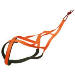 Harnais X-Back Fluo pour chien - T45 (Orange)