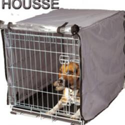 Housse pour cage pliable métallique pour chien ou chat T2
