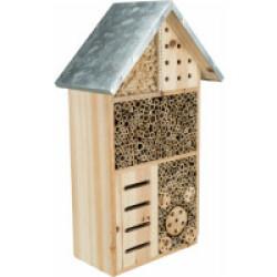 Hôtel à insectes en pin avec toit en métal Trixie
