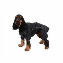 Imperméable noir pour chien Manchester Kerbl Taille XS Longueur 30 cm