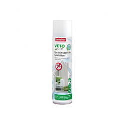 Spray insecticide larvicide antiparasitaire Vétopure Beaphar pour habitation