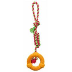 Dentafun anneau/corde pour chien 41 cm Ø 12 cm