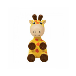 Jouet avec squeaker KONG Wiggi pour chien Modèle girafe - Large 28 cm