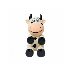 Jouet avec squeaker KONG Wiggi  pour chien Modèle vache - Small 13 cm