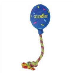 Jouet ballon peluche avec corde pour chien KONG Birthday Large 52 cm