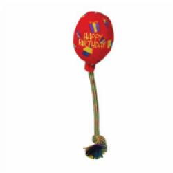 Jouet ballon peluche avec corde pour chien KONG Birthday Medium 40 cm