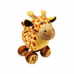 Jouet en peluche girafe avec balles de tennis KONG Tennishoes Small 15 cm