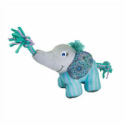 Jouet en peluche éléphant avec squeaker et corde pour chien KONG Knots S/M 14 cm