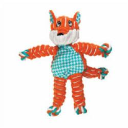 Jouet en peluche renard avec corde pour chien KONG Knots S/M 14 cm