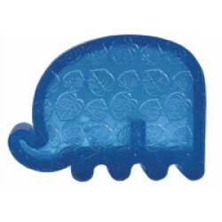 Jouet éléphant résistant à couinement pour chien KONG Squeezz Zoo Small 11,5 cm