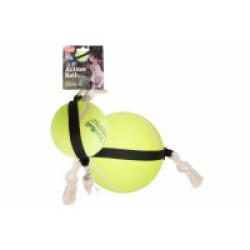 Jouet pour chien balle de tennis à corde ActionBall Flamingo 15 cm