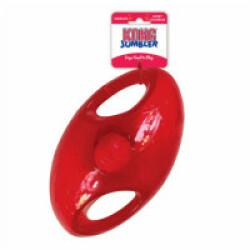 Jouet pour chien KONG Jumbler en caoutchouc Ovale Taille M/L Ø 10,5 cm